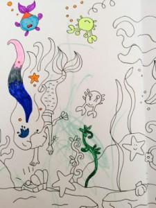 Meerjungfrauenbild. Für immer zerstört