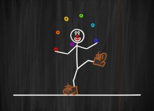 tmk clown jongliert I